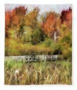 Crossing The Marsh Fleece Blanket