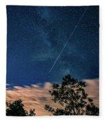 Crossing The Milky Way Fleece Blanket