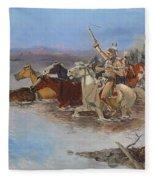 Crossing The River Fleece Blanket