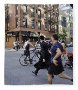 Crossing The Street In Dumbo Fleece Blanket