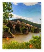 Crossing The Susquehanna Fleece Blanket