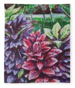Crotons 1 Fleece Blanket