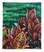 Crotons 4 Fleece Blanket
