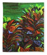 Crotons 6 Fleece Blanket