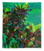 Crotons 7 Fleece Blanket