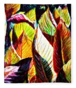 Crotons Sunlit 2 Fleece Blanket