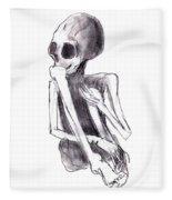 Crouched Skeleton Fleece Blanket