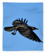Crow Flyby Fleece Blanket