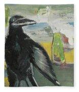 Crow Ruckus Fleece Blanket