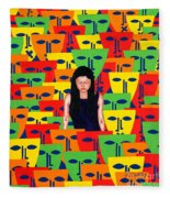 Crowd Fleece Blanket