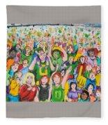Crowds Fleece Blanket