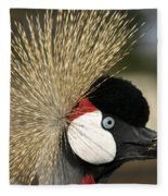 Crown Crane Close Up Fleece Blanket