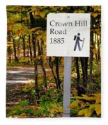 Crown Hill Road 1885 Fleece Blanket