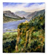 Crown Point Oregon Fleece Blanket