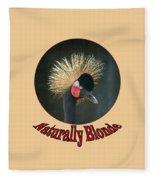 Crowned Crane - Naturally Blonde - Transparent Fleece Blanket