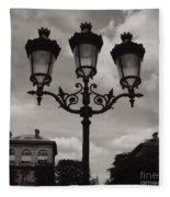 Crowned Luminaires In Paris Fleece Blanket