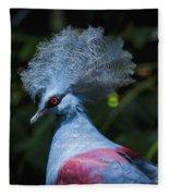 Crowned Pigeon Fleece Blanket