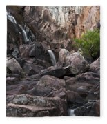 Crows Nest Falls During The Day. Fleece Blanket