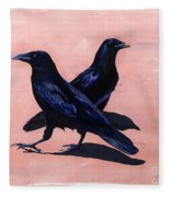 Crows Fleece Blanket