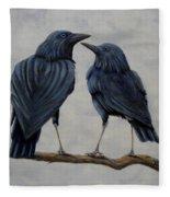 Crows Fleece Blanket