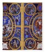 Crucifixion And Resurrection  Fleece Blanket