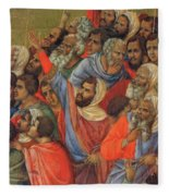 Crucifixion Fragment 1311  Fleece Blanket