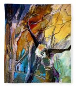 Crucifixion Fleece Blanket
