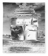 Cruise Ships In Chrome Fleece Blanket