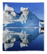Cruising Between The Icebergs, Greenland Fleece Blanket