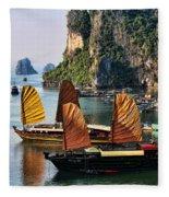 Cruising Ha Long Bay  Vietnam Fleece Blanket
