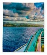 Cruising Hispaniola Fleece Blanket