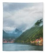 Cruising Lake Como Italy Fleece Blanket