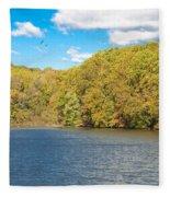 Crum Creek In Autumn Fleece Blanket