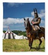 Saddled Up For Battle, Denmark Fleece Blanket