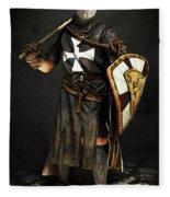 Crusader Warrior - 02 Fleece Blanket