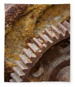 Crusty Rusty Gears Fleece Blanket