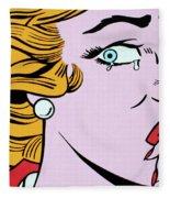 Crying Girl Fleece Blanket