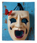Crying Mask And Red Butterfly Fleece Blanket