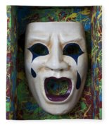Crying Mask In Box Fleece Blanket