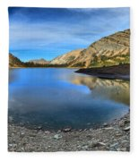 Crypt Lake Gold And Blue Fleece Blanket