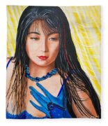 Crystal Blue China Girl            From   The Attitude Girls  Fleece Blanket