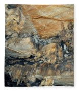 Crystal Cave Marble Formations Portrait Fleece Blanket