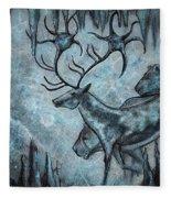 Crystal Cavern Procession Fleece Blanket
