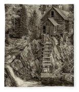 Crystal Mill Marble Colorado Sepia Dsc06944 Fleece Blanket