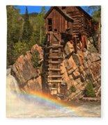 Crystal Mill Rainbow Fleece Blanket