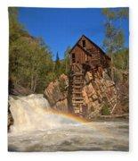 Crystal Mill Rainbow Portrait Fleece Blanket