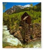 Crystal Mill Summer Landscape Fleece Blanket