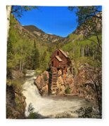Crystal Mill Through The Trees Fleece Blanket