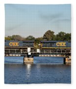 Csx On Mills Bayou Fleece Blanket