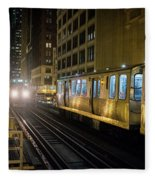 Cta Meet At The State-lake Street Station Chicago Illinois Fleece Blanket